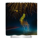 Rays Of Light From Above Shower Curtain by Robert Bales