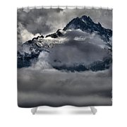 Rays Of Light On The Glaciers Shower Curtain
