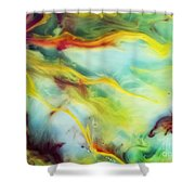 Rays Of The Sun Watercolor Abstraction Painting Shower Curtain