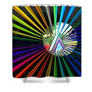 Rays To Triangle Shower Curtain