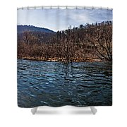 The Dam At Raystown Lake Shower Curtain