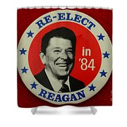Re-elect Reagan Shower Curtain by Paul Ward