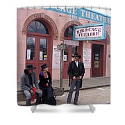 Re-enactors Bird Cage Theater Rendezvous Of The Gunfighters Tombstone Arizona 2004            Shower Curtain