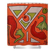 Red Hot Chili Pepper Martini With A Twist Shower Curtain