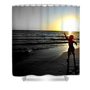 Reach For Your Dreams 2 Of 4 Shower Curtain