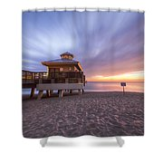 Reaching Into Sunrise Shower Curtain