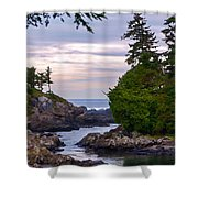 Reaching Out To The Ocean Shower Curtain