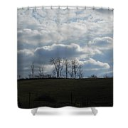 Reaching To The Clouds Shower Curtain