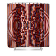 Reactor Plate Shower Curtain