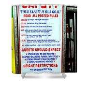 Read All Posted Rules Shower Curtain