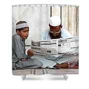 Reading In New Delhi Shower Curtain