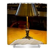 Reading Lamp And Book Shower Curtain