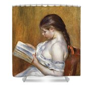 Reading Shower Curtain by Pierre Auguste Renoir