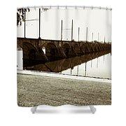 Cumberland Valley Railroad Bridge Shower Curtain