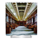 Reading Room In The Library Of Congress Shower Curtain