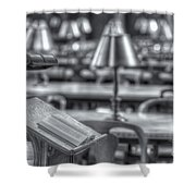 Reading Stand And Tables II Shower Curtain
