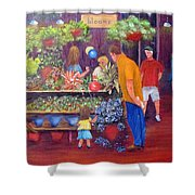 Reading Terminal Market Flowers Shower Curtain