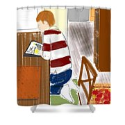 Reading The Little Prince Shower Curtain