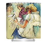 Reading The News 06 Shower Curtain
