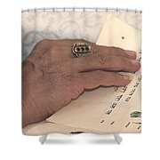 Reading The Passover Hagadah  Shower Curtain