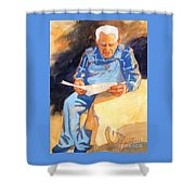 Reading Time Shower Curtain by Kathy Braud