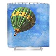 Readington Balloon Fest Media Launch 30 Shower Curtain by Pat Abbott