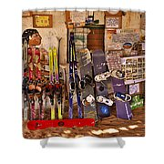 Ready For Sand Skiing Shower Curtain