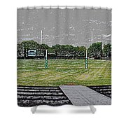 Ready For The Football Season Panorama Digital Art Shower Curtain
