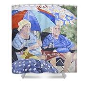Ready For The Millbury Parade Shower Curtain by Carol Flagg