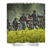 Ready On The Firing Line Shower Curtain