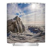 Ready To Let Loose Ice Formation Shower Curtain