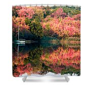 Ready To Sail In The Fall Colors Shower Curtain