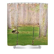 Ready To Take A Swing Shower Curtain