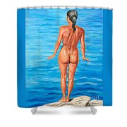 Ready To Take The Leap Shower Curtain