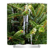 Real Christmas Icicles Shower Curtain