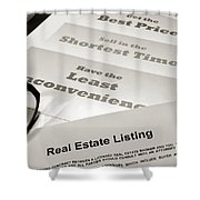 Real Estate Listing Presentation  Shower Curtain