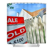 Real Estate Sold Sign Shower Curtain