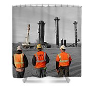 Reality Bw Shower Curtain