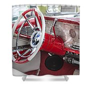 Really Red 1959 Lincoln Interior Shower Curtain