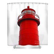 Really Red Lighthouse Shower Curtain