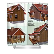 Realm Gallery Cabin Designs Shower Curtain