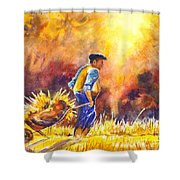 Reaping The Seasons Harvest Shower Curtain