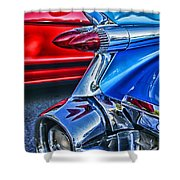 Rear Tail Lights Shower Curtain