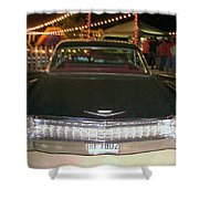 Rear View Black And Chrome Beauty Shower Curtain by Donna Wilson