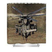 Rear View Of An Israeli Air Force Ch-53 Shower Curtain