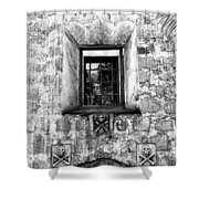 Rear Window Bw Santa Barbara Shower Curtain