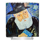 Rebbe's World  Shower Curtain