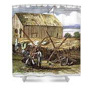 Rebel Hospital, 1862 Shower Curtain