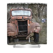Rebel Truck Shower Curtain