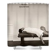 Recent Acquisitions Vintage Documentary Type Photo Woman In Repose Shower Curtain